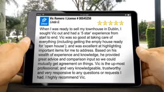 Vic Romero with Realty1Team  Tri-Valley  Excellent 5 Star Review by Linda Gori