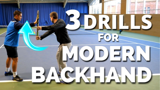 3 Drills For Modern One Handed Backhand in Tennis - Thiem Wawrinka Federer Backhand Technique