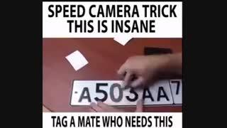 speed camera trick